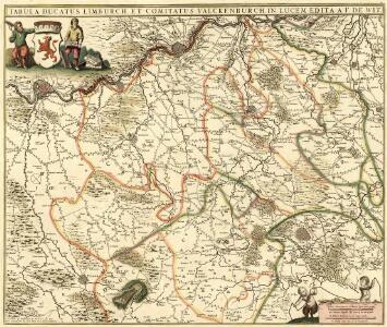 Tabula Ducatus Limburch et Comitatus Valckenburch in Lucem edita