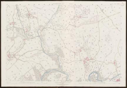 Devon LXXXIX.4 (includes: Chagford; Gidleigh; Throwleigh) - 25 Inch Map