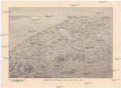 Reliefkarte von Flandern