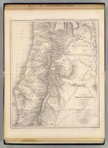 Carte, Province de Mendoza, l'Araucanie, partie du Chili.