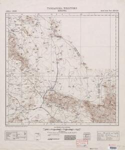 Tanganyika, Africa 1:250,000 (Sheet 2)