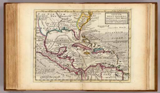 Map of the West-Indies, Mexico or New Spain.