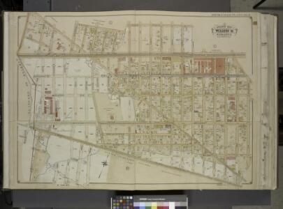 Queens, Vol. 1, Double Page Plate No. 2; Part of Ward Four, Jamaica; [Map bounded by Borough of Brooklyn, Elderst Lane, Drew Ave.,     Center Ave., Snedeker Ave., Rockaway Plank Road, Dakota Ave., Shaw Ave., Nevada  Ave., Montana Ave., Fulton Ave., Be