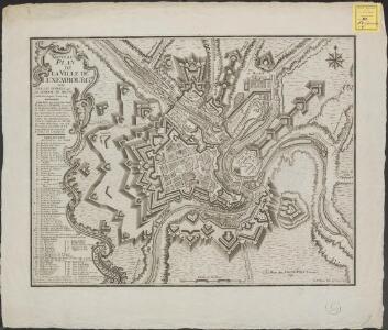 Nouveau plan de la ville de Luxembourg avec tous les ouvrages que le general De Bauffe y a fait faire depuis l'Année 1724