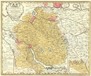Canton Zürich Sive Illustris Helvetiorum Respublica Tigurina cum subditis suis et Confinibus recenter delineata