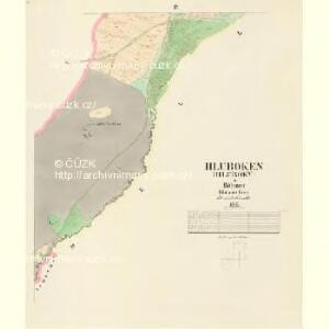 Hluboken (Hluboky) - c1888-1-004 - Kaiserpflichtexemplar der Landkarten des stabilen Katasters
