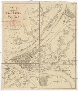 Plan von Pittsburg und Umgebungen