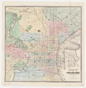 Barnes' map of Philadelphia : built portion of the city