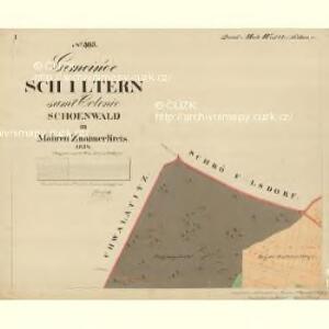 Schiltern - m3059-1-001 - Kaiserpflichtexemplar der Landkarten des stabilen Katasters