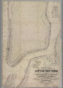 New map of that part of the city of New York south from 20th Street on the Hudson & 35th Street on the East River : showing the position of Greenwich, Washington and West Streets on the Hudson River, and Pearl, Water, Front, Cherry & Tompkins Sts. on the