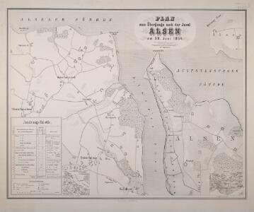 Plan zum Übergange nach der Insel Alsen am 29. Juni 1864