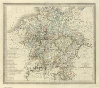 Composite:  Carte Generale des Etats composant La Confederation Germanique.