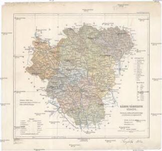 Sáros vármegye térképe