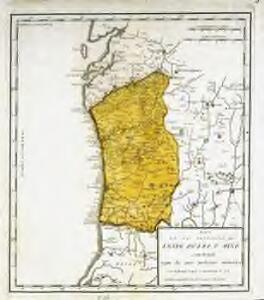 Mapa de la provincia de Entre Duero y Miño