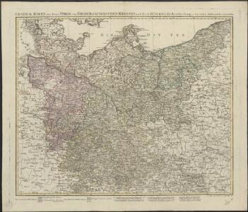 General Karte von denen Ober- und Niedersaechsischen Kreisen nach des D. Büsching Erdbeschreibung u. den besten Hülfsmitteln entworffen