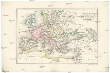 Uebersichts-Karte für das Zeitalter Napoleon's