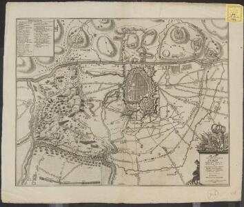 Plan de la ville et citadelle de Turin assiegées par l'armée de France, le 3e. Juin 1706 et secourués par leurs Altesses Royale, et Serenissime de Savoye, le 7e. Septembre de la même année