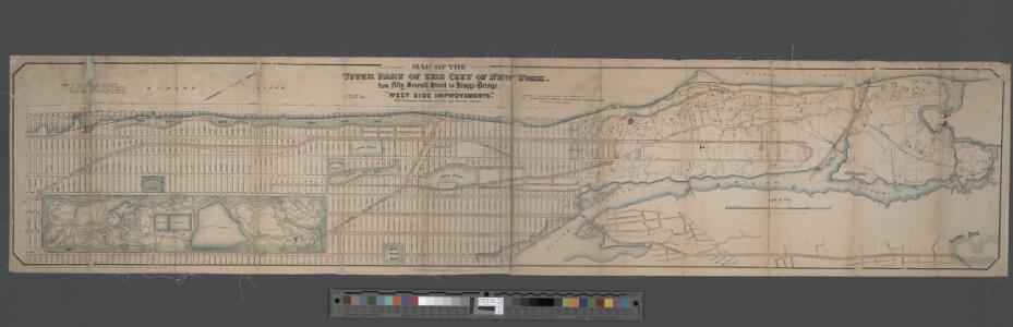 Map of the Upper Part of New York from 57th St. to Kingsbridge showing the