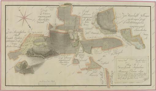 Geometrický plán dvora Zborov,zborovské myslivny, dominikálních domků a přilehlých činžovních pozemků 1