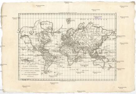 Carte générale de toutes les parties connues de la surface de la terre en carte réduite