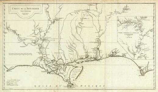 Carte de la Louisiane.