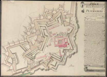 Plan De La Forteresse De Petersberg