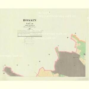 Hossin - c2235-1-001 - Kaiserpflichtexemplar der Landkarten des stabilen Katasters