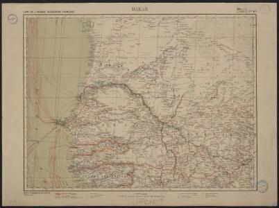 Carte de l'Afrique occidentale française. Dakar