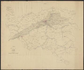 Plan de la Province de Liège.