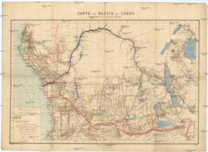 Carte du bassin du Congo