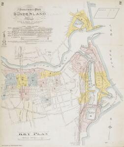 Insurance Plan of Sunderland, Vol. I: Key Plan