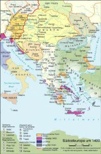 Südosteuropa um 1400