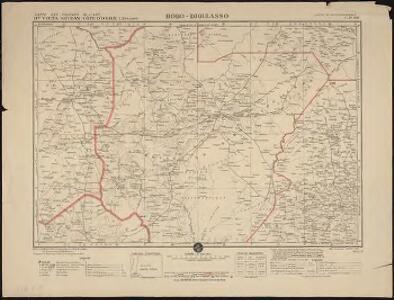 Carte des colonies de l'A.O.F. Bobo-Dioulasso