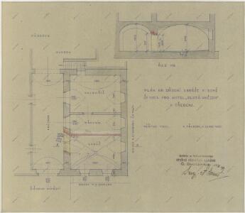 Plán na zřízení garáže v domě čp. 107 pro hotel  1
