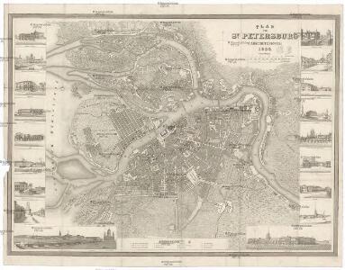 Plan von St. Petersburg (Sanktpeterburga)