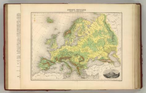 Europe.  (Carte Hypsometrique).