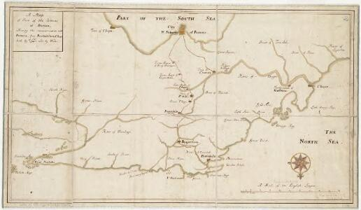 A map of part of the Isthmus of Darien, shewing the communication with Panama, from Portobello & Chagre both by land, and by water