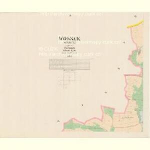 Wossek (Wosek) - c5528-1-004 - Kaiserpflichtexemplar der Landkarten des stabilen Katasters