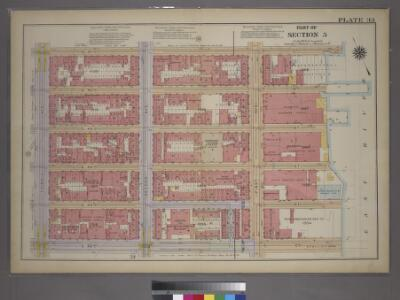 Plate 33, Part of Section 5: [Bounded by E. 47th Street, First Avenue, E. 42nd Street and Third Avenue.]