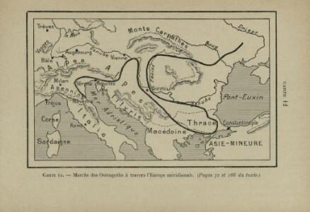 Marche des Ostrogoths à travers l'Europe méridionale