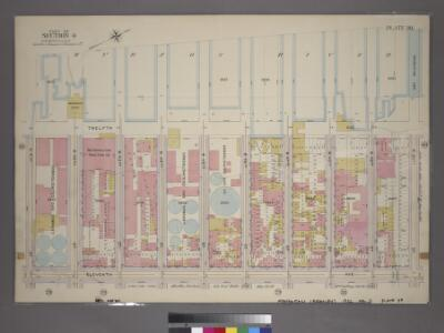 Plate 39, Part of Section 4: [Bounded by Twelfth Avenue (Hudson River Piers), W. 50th Street, Eleventh Avenue and W. 42nd Street.]