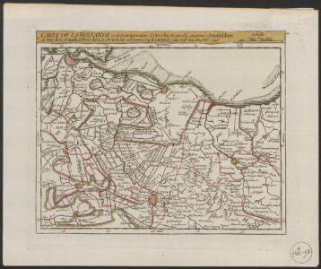 Carte de la Hollande et de la Seigneurie, d Utrecht, où sont les environs d'Amsteldam de Muyden, Naarden, Woerden, et d'Utrecht