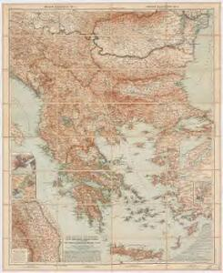 Die Balkan-Halbinsel in 4 Blättern : Türkei, Rumänien, Griechenland, Serbien, Montenegro, Bulgarien