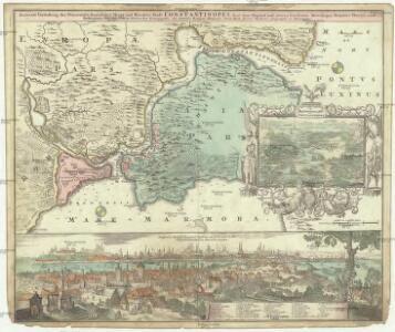 Accurate Vorstellung der Orientalisch-Kayserlichen Haupt- und Rezidenz Stadt Constantinopel samt ihrer Gegend und zweyen berümhten Meer-Engen, Bosphoro Thracio und Hellesponto, oder dem freto der Dardanellen
