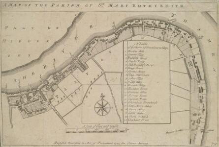 A MAP OF THE PARISH OF ST. MARY ROTHERHITH.