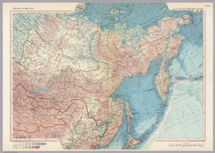 U.S.S.R. - Eastern Siberia and Far East.  Pergamon World Atlas.