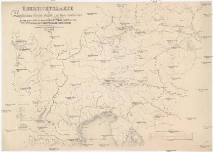 Übersichtskarte der evangelischen Kirche Augsb. und Helv. Confession