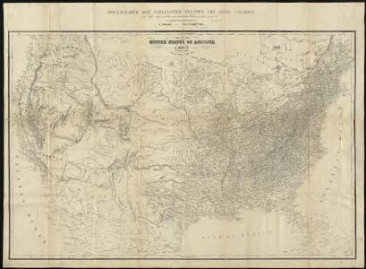 Map of the United States of America = Specialkarte der Vereinigten Staaten von Nord-America