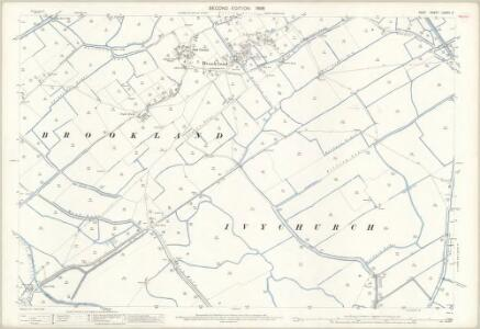 Kent LXXXIII.4 (includes: Brookland; Ivychurch) - 25 Inch Map