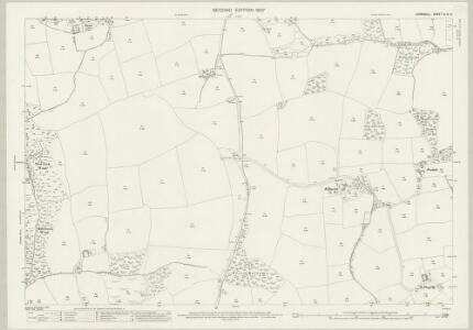 Cornwall XLIX.9 (includes: Ladock; St Allen; St Erme) - 25 Inch Map